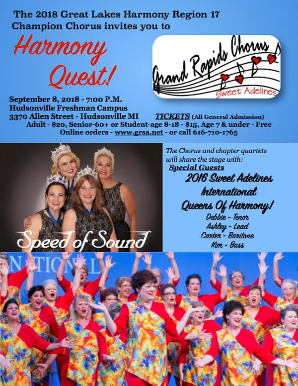 Grand Rapids Chorus of Sweet Adelines Harmony Quest