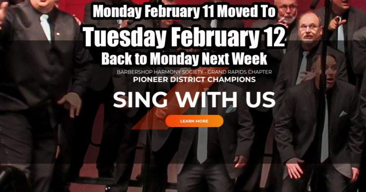 Monday Rehearsal on Tuesday